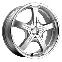 Pacer Wheels 774MS Reliant - Titanium Silver w/Mirror Machined Lip Rim - 15x7