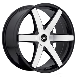 Pacer Wheels 785MB Ovation - Mirror Face/Lip Edge/Gloss Blk Accents Rim - 16x7.5