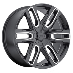 Pacer Wheels Benchmark - Gloss Black/Diamond Cut Accents/Clear-Coat - 20x9