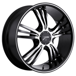 Platinum Wheels 122B Wolverine - Gloss Black w/Diamond Cut Face