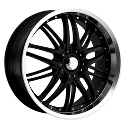 Platinum Wheels 200B Apex FWD - Gloss Black w/ Diamond Cut Lip & Clear Coat
