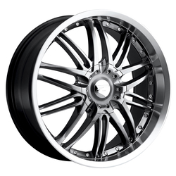 Platinum Wheels 200HB Apex FWD - Hyper Black w/ Diamond Cut Lip
