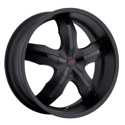 Platinum Wheels 212B Widow FWD - Matte Black w/ Gloss Black Inserts