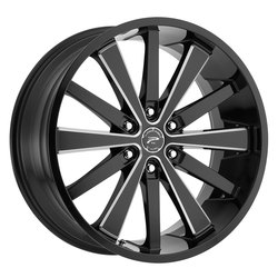 Platinum Wheels 270BM Pivot - Black w/CNC Milled Accents & Clear-Coat Rim