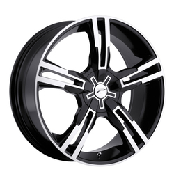 Platinum Wheels 292B Saber FWD - Gloss Black w/ Diamond Cut Rim