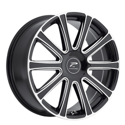 Platinum Wheels 410BM Divine - Gloss Black w/ Milled Accents & Clear-Coat