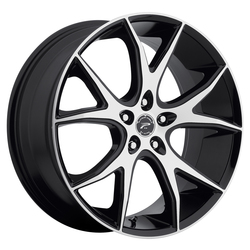 Platinum Wheels 419U Recluse - Gloss Black w/ Diamond Cut Accents & Clear Coat