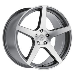 Platinum Wheels 432GN Elite - Gloss Graphite w/ Diamond Cut Face & Clear-Coat Rim