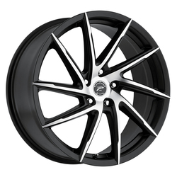 Platinum Wheels 433U Hawk - Satin Black w/ Diamond Cut Face & Clear-Coat