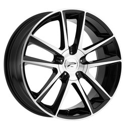 Platinum Wheels 436U Gemini - Gloss Black w/ Cut Face Rim