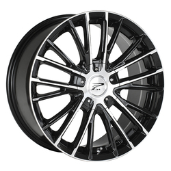 Platinum Wheels 437U Genesis - Gloss Black w/ Cut Face