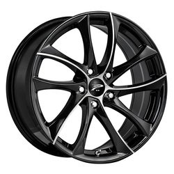 Platinum Wheels 438U Gyro - Gloss Black w/ Diamond Cut Face & Clear-Coat Rim