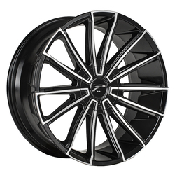 Platinum Wheels 439U Turbine - Gloss Black w/ Cut Face Rim