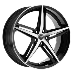 Platinum Wheels 440U Smooth Trip - Gloss Black w/ Diamond Cut Face & Clear-Coat