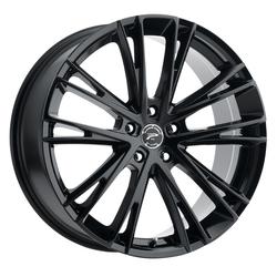 Platinum Wheels 458BK Prophecy - Gloss Black with Clear-Coat Rim