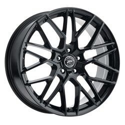 Platinum Wheels 459BK Retribution - Gloss Black with Clear-Coat Rim
