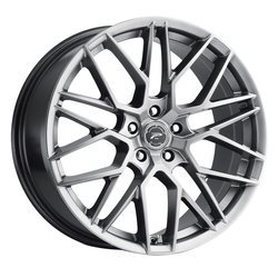 Platinum Wheels 459G Retribution - Bright Graphite w/Clear Coat Rim