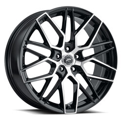 Platinum Wheels 459U Retribution - Gloss Black with Diamond Cut Face and Clear Coat Rim