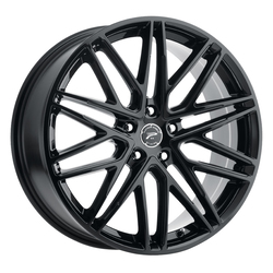 Platinum Wheels 460BK Atonement - Gloss Black and Clear-Coat Rim