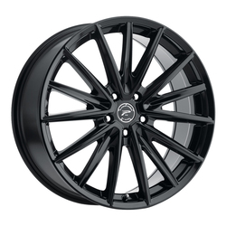 Platinum Wheels 461BK Exodus - Gloss Black and Clear-Coat Rim