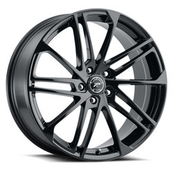 Platinum Wheels 463BK Valor - Gloss Black with Clear Coat Rim