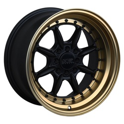 XXR Wheels 002.5 - Flat Black / Bronze Lip Rim