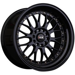 XXR Wheels 521 - Black / Gold Rivets - 17x7