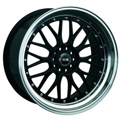 XXR Wheels 521 - Black / Machined Lip Rim - 17x7