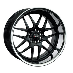 XXR Wheels 526 - Black / Sainless Steel Chrome Lip Rim - 18x9