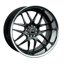 XXR Wheels 526 - Hyper Black / Sainless Steel Chrome Lip Rim - 18x9