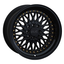 XXR Wheels 536 - Black / Gold Rivets