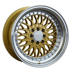 XXR Wheels 536 - Hyper Gold / Machined Lip - 15x8