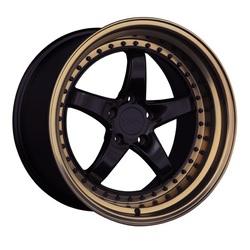 XXR Wheels 565 - Black / Bronze Lip Rim - 18x8.5