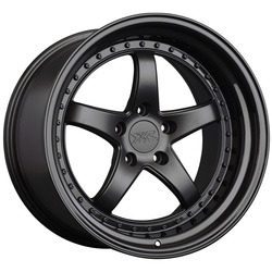 XXR Wheels 565 - Flat Black / Gloss Black Lip Rim