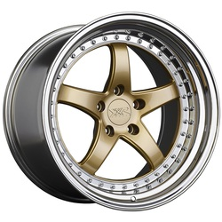 XXR Wheels 565 - Hyper Gold / Platinum Lip Rim