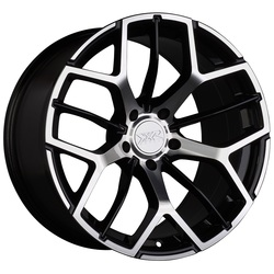 XXR Wheels 566 - Black / Machined