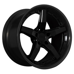 XXR Wheels 569 - Flat Black / Gloss Black Lip Rim