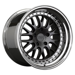 XXR Wheels 570 - Graphite / Platinum Lip - 18x10.5