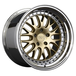 XXR Wheels 570 - Hyper Gold / Platinum Lip - 18x10.5