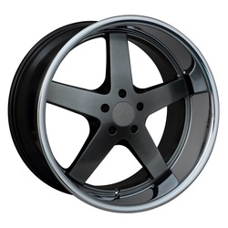 XXR Wheels XXR Wheels 968 - Hyper Black / Sainless Steel Chrome Lip - 18x10.5