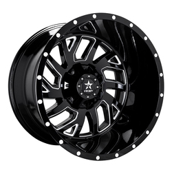 RBP Wheels 65R Glock - Gloss Black/Milled - 22x14