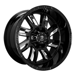 RBP Wheels 69R Swat - Gloss Black w/Chrome Insert Rim
