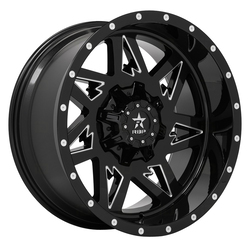 RBP Wheels 71R Avenger - Gloss Black/Milled Rim