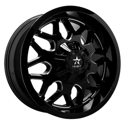 RBP Wheels 73R Atomic - Gloss Black/Milled Rim