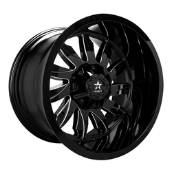 RBP Wheels 74R Silencer - Gloss Black/Milled Rim