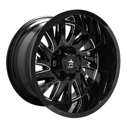 RBP Wheels 75R Batallion - Gloss Black/Milled Rim