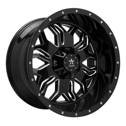 RBP Wheels 87R Blade - Gloss Black/Milled Rim