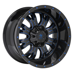 RBP Wheels 89R Assassin - Gloss Black with Custom Blue Mill Rim