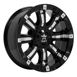 RBP Wheels 94R Colt - Gloss Black w/Chrome Inserts Rim