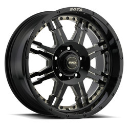 SOTA Offroad Wheels Jato - Black Milled Smoked Clear - 22x12